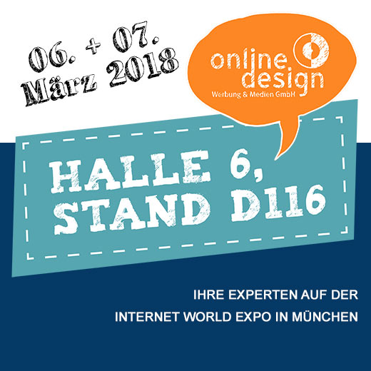 online design bei der Internet World in München