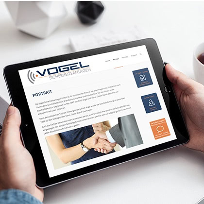 online design - Corporate Website - vogel-sicherheit.de