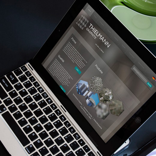 online design - Corporate Websites - thielmann-graphite.de